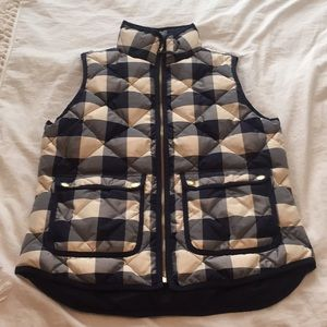 J crew checkered vest